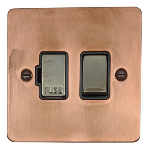 G&H FTC357 Flat Plate Tarnished Copper 1 Gang Fused Spur 13A Switched
